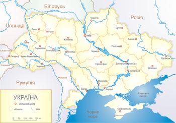 Розташування україни на карті